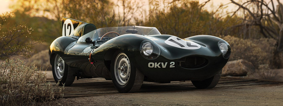 Jaguar D Type Performance Monitored by SMITHS Gauges