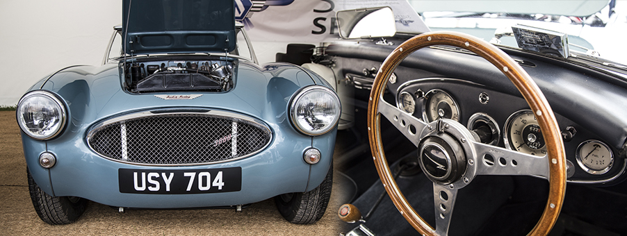 Classically British Austin Healey 3000 Sports Car
