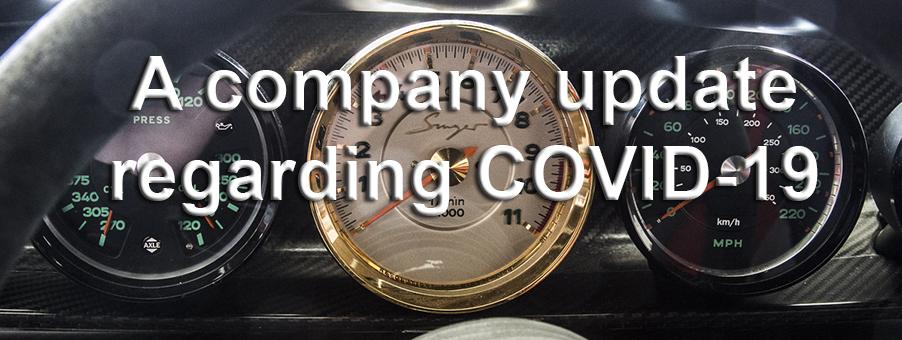 A Company update regarding COVID-19