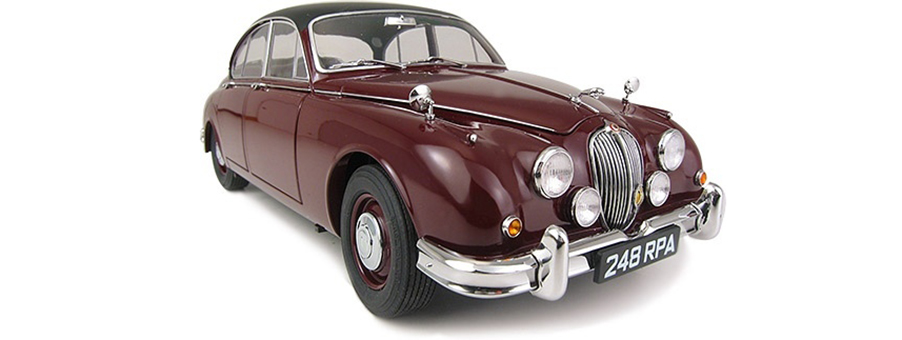Inspector Morse and his Jaguar Mark II