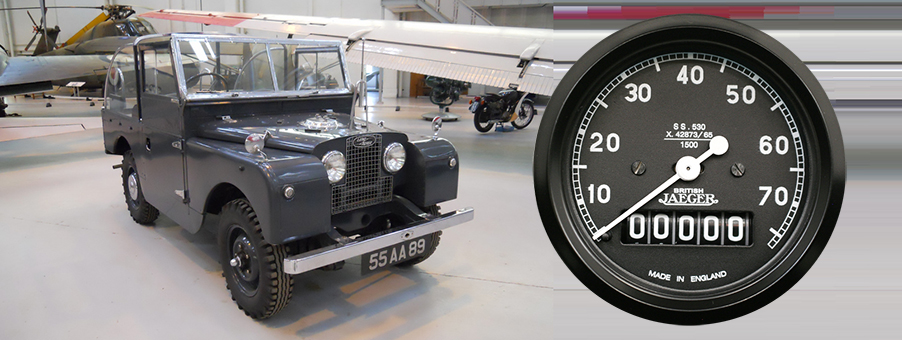 New SMITHS Land Rover Series I Speedometer