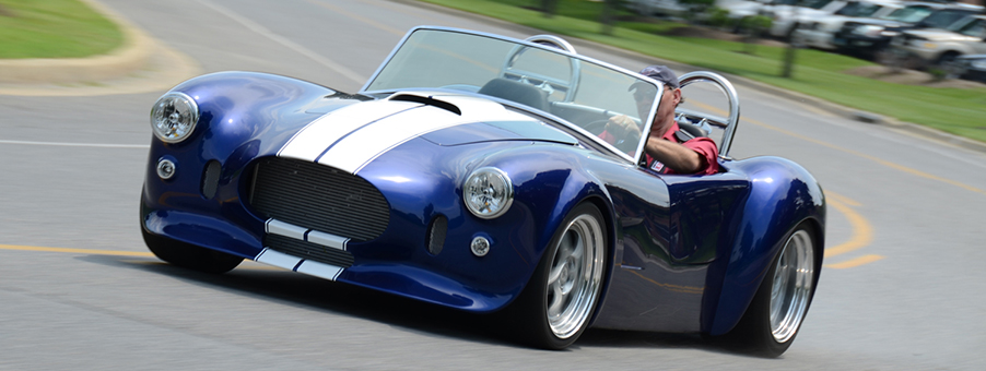 Classic Instrumentation for the Cobra Sports Car