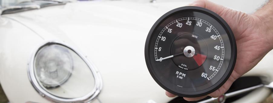 New SMITHS Digital Tachometer for the Classic Jaguar E-Type