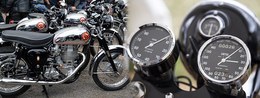 Smiths Gauges On Classic Bsa Gold Star Motorcycle